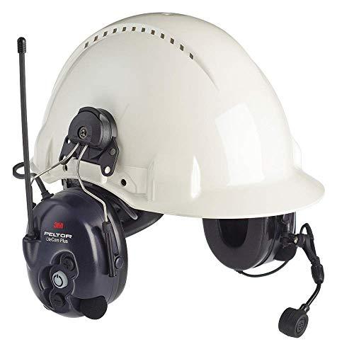 3M Peltor LiteCom Plus Two Way Radio Headset, MT7H7P3E4610-NA, Hard Hat Attached, 1 EA/Case