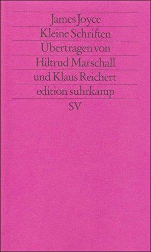 Werkausgabe in sechs Bänden in der edition suhrkamp: Band 4: Kleine Schriften