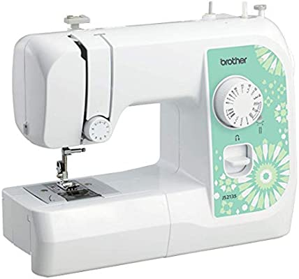 Brother JS2135 - Máquina de coser (Verde, Blanco, Bordado, Overlock, Costura, Paso 4, 4 mm, 750 RPM, 5 mm): Amazon.es: Hogar