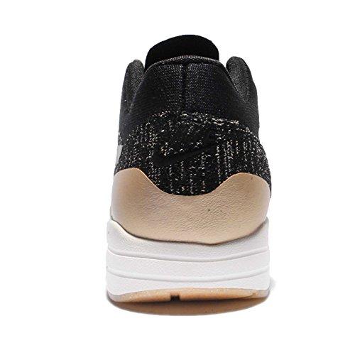 Nike Vrouwen Wmns Air Max 1 Ultra 2,0 Fk Mtlc, Zwart / Zwart-mtlc Gouden Ster-flat Opal Hyper Oranje / Wit-zwart