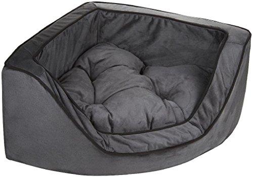 Snoozer Luxury Corner Pet Bed, Small, Anthracite/Black