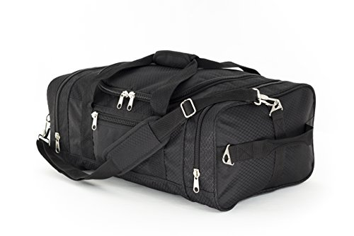 North Star Sports 1050 Tuff Cloth Flight Carry-On Luggage Bag, Black, 21