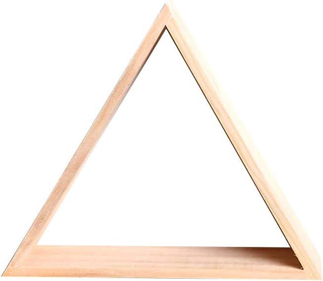 21.5 * 25CM Style1 Madera Kentop estanter/ía con boquillas tri/ángulo Madera estanter/ías Almacenamiento Decorativos organizaci/ón para c/ámara