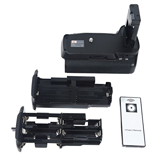 DSTE Pro IR remote MB-D3400 Vertical Battery Grip for Nikon D3400 Camera as EN-EL14 EN-EL14a