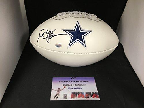 Deion Sanders Autographed Football (Deion Sanders Autographed Signed Dallas Cowboys Logo Football GTSM COA & Hologram)
