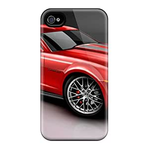 New DGcases Super Strong 2010 Camaro Red Tpu Case Cover For Iphone 4/4s