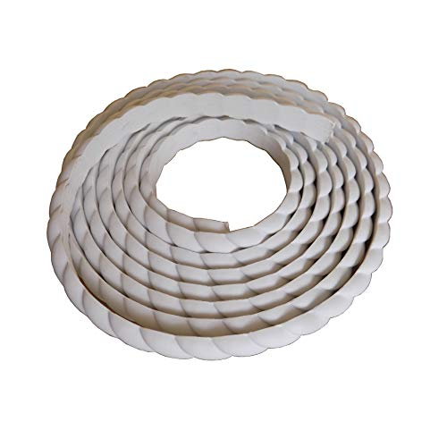 (Home Wall Door Flexible Molding Trim Cabinet Edge Rope Mouldings 0.6inch (1.5cm) W x 115inch (L) x Thickness 0.27 inch)