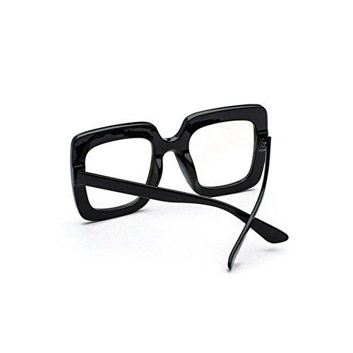 lunettes de soleil des étoiles des lunettes élégant nouveau cycle de lunettes de soleil les femmes les visages coréennetransparent noir (tissu) SJG3XK6Uwb