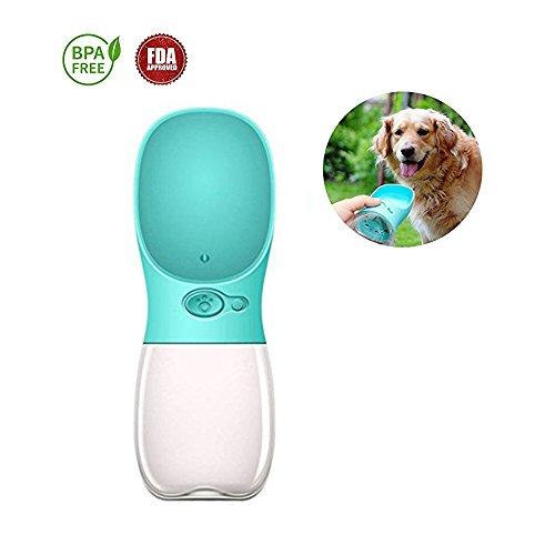Naiver Portable Dog Water Bottle, Keeper Pet Water Dispenser Antibacterial Food Grade Leak Proof Dog Cat Travel Drink Bottle Bowl, Pet Outdoor Drinking Cup -12OZ