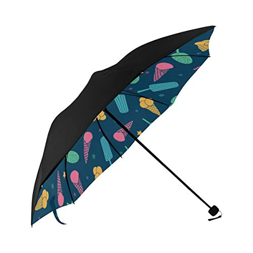 Fruit Candy Color Sour And Sweet Compact Travel Umbrella Sun Parasol Anti Uv Foldable Umbrellas(underside Printing) As Best Present For Women Sun Uv Protection ()