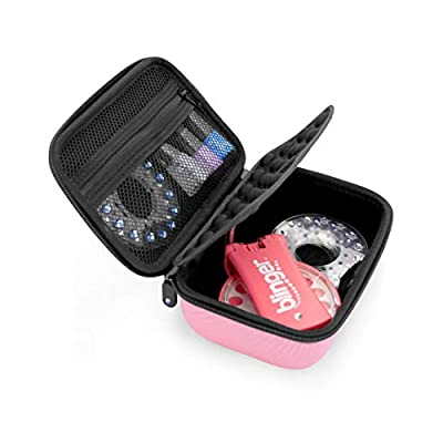 CASEMATIX Pink Travel Case for Blinger Deluxe Set, Blinger Refill Gems and More Hair Jewels and Nail Glam Childrens Accessories - CASE ONLY for Kids Diamond Applicator Set and Bedazzler Kit Hair Gems: Toys & Games