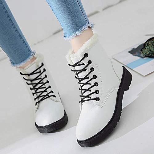 JUWOJIA Frauen Schnee Schnee Schnee Stiefel Wasserdicht Winter Warme Fell Dicken Sohlen Plüsch Student Rutschfeste Schuhe e53120