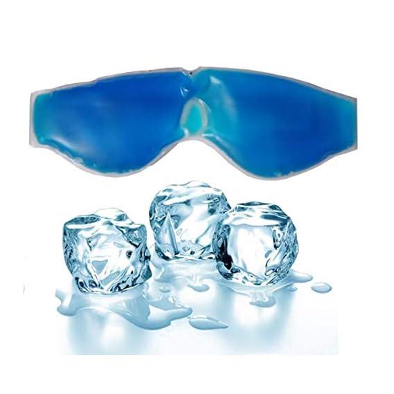 Kesariyaji Aqua Cooling Gel Relaxing Eye Mask for Dark Circles, Dry Eyes, Cooling Eyes, Pain Relief, Redness, Eye Patches, Sleeping Cool Pad Suitable for All Family Members