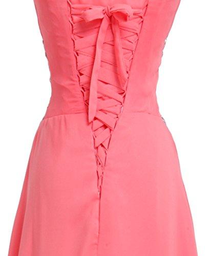 Donna Blu chiaro Vestito linea Mall Bridal a ad maniche Senza 8a06w1Wq