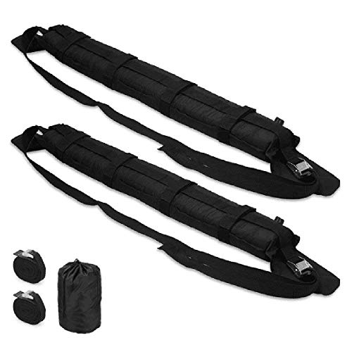 Universal Soft Roof Rack, New Auto Inflatable Top Luggage Cargo Snowboard Kayak Carrier for Travel(2 Pcs) with Straps
