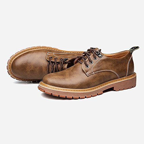 Xiangbao Zapatos personality Cordones Caqui Para Hombre De Papel r5rd6vnqw