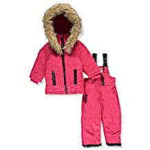 "Canada Weather Gear Baby Girls' ""Luxe Trim"" 2-Piece Snowsuit"