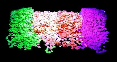 PartyParty Neon Confetti Pack. Red, Pink, Green, and Orange Colors Fluoresce Under UV Black -