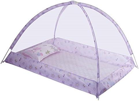 SUSUQI 아기용 접이식 모기장 네 백신 유아용 모기장 바닥이 없는 혐오 감 모기 이동식 수납 편리 극 세 메쉬 시원한 여름 숙면 설치 간단 size 120 * 90 * 80cm (Purple) / SUSUQI Baby Folding Mosquito Net Centipede Control Baby Mosquito Net ...