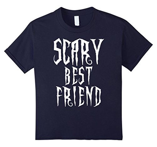 [Kids Scary Best Friend Spooky Halloween Costume Novelty T Shirt 12 Navy] (Fun Halloween Costumes For Best Friends)