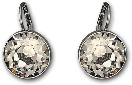Swarovski Crystal Black Crystal Bella Pierced Earrings