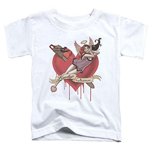 Batman DC Comics Harley Quinn Chainsaw Cupid Little Boys Toddler T-Shirt Tee