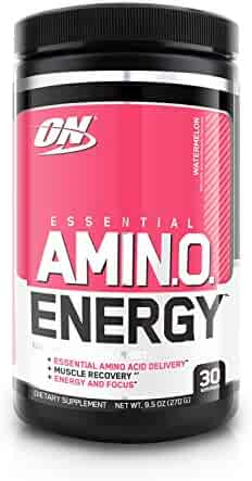 Optimum Nutrition Amino Energy with Green Tea and Green Coffee Extract, Preworkout and Essential Amino Acids