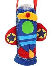 Socobeta Baby tecknad flaska handväska, ingen lukt baby dryck flaska påse baby tecknad dryck flaska hållare säker för flaska för baby (flygplan)