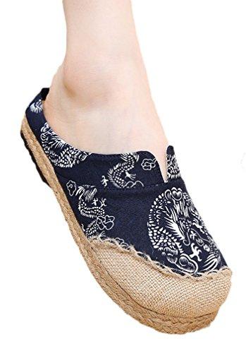 Soojun Womens Chinese Printed Slippers