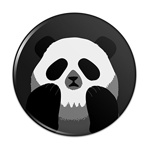 Panda Skull Optical Illusion Spooky Compact Pocket Purse Hand Cosmetic Makeup Mirror - 3