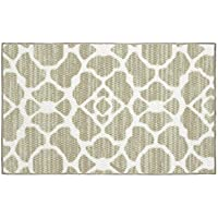 Structures Kohl Textured Printed Accent Rug, Beige/White 18 x 30'