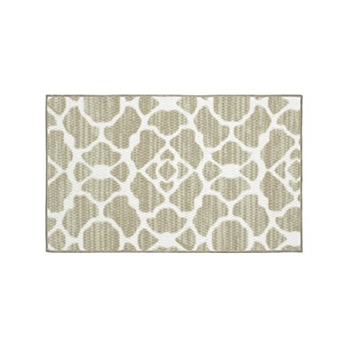Structures Kohl Textured Printed Accent Rug, Beige/White 18 x 30'' by Structures