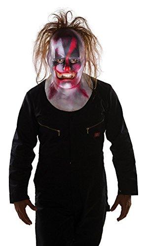 Men's Slipknot Clown Full Mask with Hair, Multi, One Size