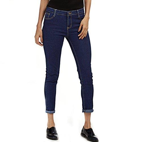 Alta Jeans Fit Azul Ocio Pantalones Estilo Cintura Vaqueros Flaco Delgado 9daysminer 65znq1C6