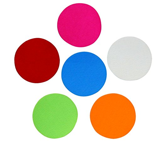 Assorted Colors Adhesive Felt Circles 2 inch, 3