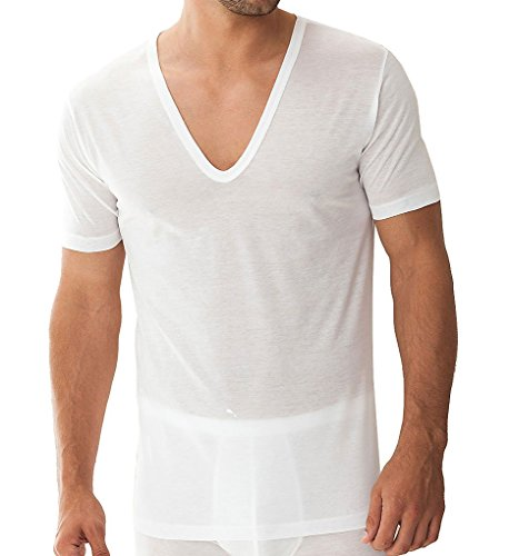 Zimmerli Royal Classic Deep V-Neck T-Shirt (2528124) L/White