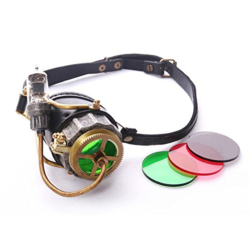 JACKDAINE Steampunk Retro Goggles Halloween Cosplay Party Props ()