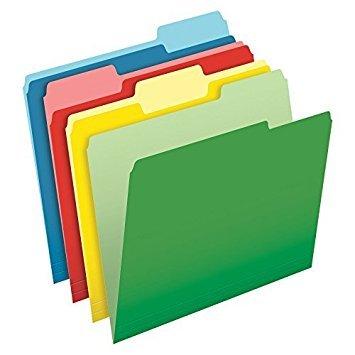 Pendaflex CutLess File Folders, Letter Size, 1/3 Cut, Assorted Colors, 100 per Box (48440) by Pendaflex