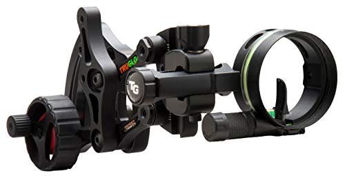 "TRUGLO RANGE-ROVER Series Single-Pin Moving Bow Sight, Black, Right-Handed, .019"" Pin, Toolless Micro-Adjustable Windage"