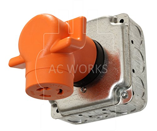 AC WORKS [AD1450L620] Plug Adapter NEMA 14-50P 50Amp 125/250Volt Range/RV/Generator Power Plug to NEMA L6-20R 20Amp 250Volt Locking Female Connector Adapter by AC WORKS (Image #5)