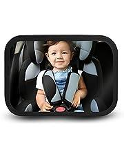 Redlemon Espejo Retrovisor de Bebé para Auto, Extra Grande para Montar en la Cabecera. Fabricado con Acrílico Antishock de Gran Seguridad, Giratorio 360° Grados, Vista Panorámica, Ajustable