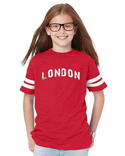 Mom`s Favorite London City UK Europe Traveler Gift Youth Unisex Football Fine Jersey Tee (YLR) -