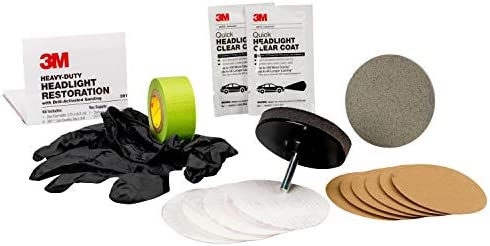 3M 39195 Ultra Headlight Restoration Kit, Easy Heavy-Duty Restoration