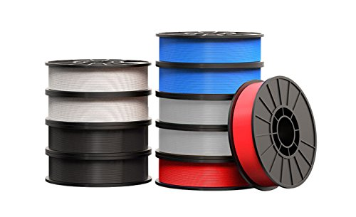MakerBot MP06973 Abs with Dissolvable Large Filament Bundle, Spool, 1.75 mm Diameter, Red/Blue/White/Black (Pack of 10)