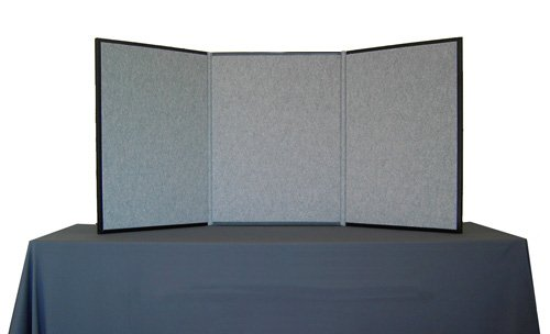 Three-Panel Display System, Fabric, Black/Gray ()