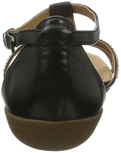 Clarks Mujeres Sandalias RAFFI STAR negro, (BLACK LEATHER) 261139815