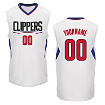 Men's Los Angeles Clippers White Custom Replica Basketball Jersey