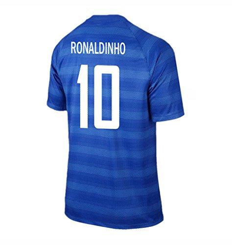 Ronaldinho #10 Brazil Away Soccer Jersey - Brazil Soccer Ronaldinho Shopping Results