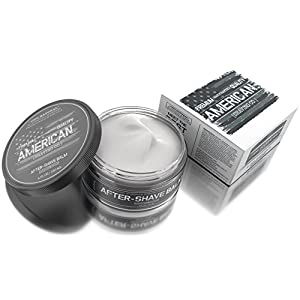 #1 MEN'S CHOICE American Shaving After Shave Balm For Men (4oz) - Original Masculine Scent - 100% Natural Moisturizing Lotion - Best Cream to Refresh, Soothe, and Hydrate Dry Skin Post Shave