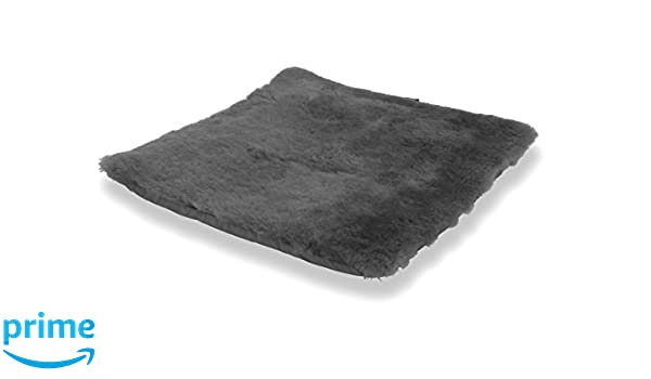 Cojín para sentarse piel de cordero gris antracita (Manta para la silla de ruedas / Cama para el gato): Amazon.es: Hogar